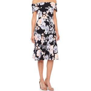Never Worn Off Shoudler Floral Fit & Flare Dress
